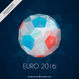 Polygonal ball euro 2016 background