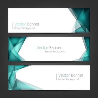 Polygonal banner set