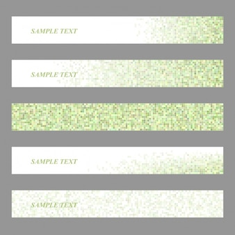 Polygonal banner template collection