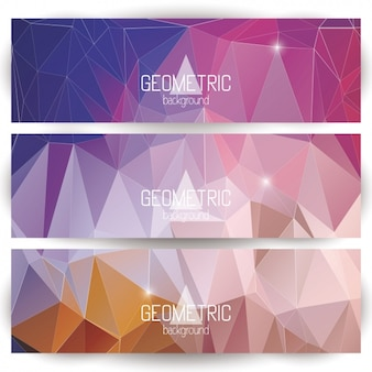 Polygonal banners design