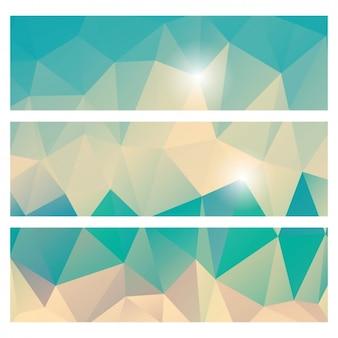 Polygonal banners design