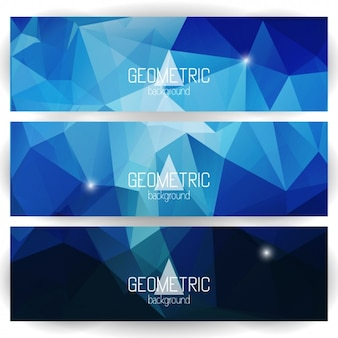 Polygonal banners set