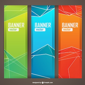 Polygonal banners templates