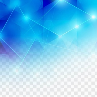 Polygonal blue background with lights