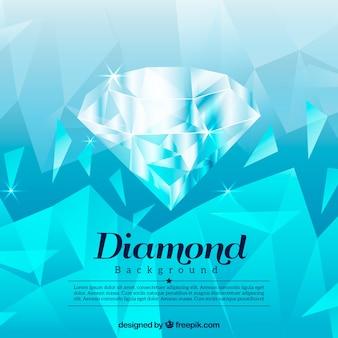 Polygonal blue diamond background