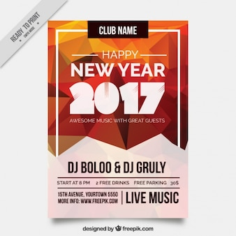 Polygonal brochure of new year 2017