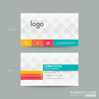 Polygonal business card with 3d effect