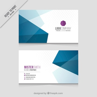 Polygonal business card with purple details