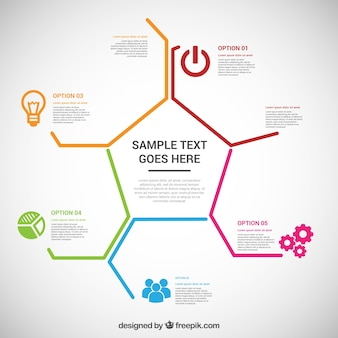 Polygonal business infographic