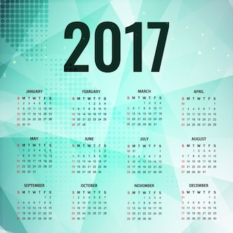 Polygonal calendar 2017