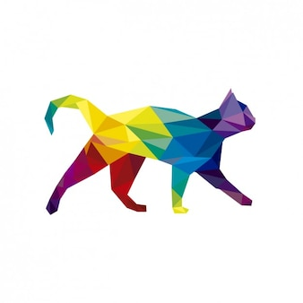 Polygonal cat illustration