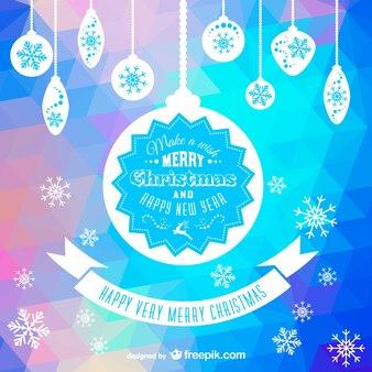 Polygonal Christmas card