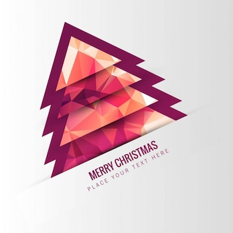 Polygonal christmas tree in abstract style