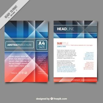 Polygonal colored company brochure