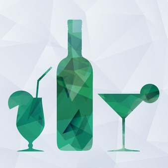 Polygonal Drinks Background