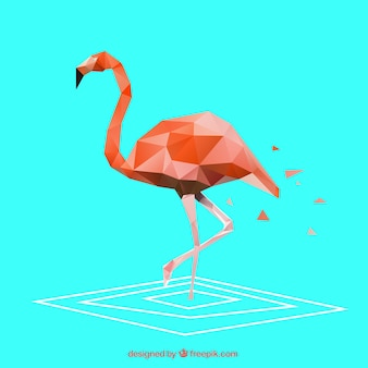 Polygonal flamingo