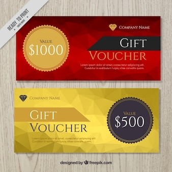 Polygonal gift voucher