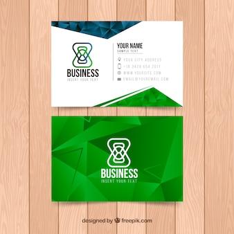 Polygonal green business card