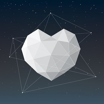 Polygonal heart design