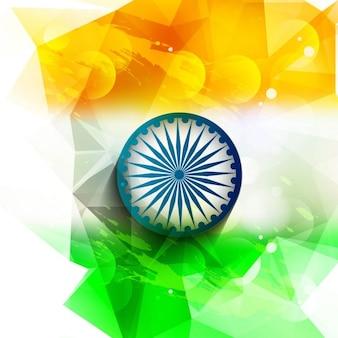 Polygonal Indian flag background