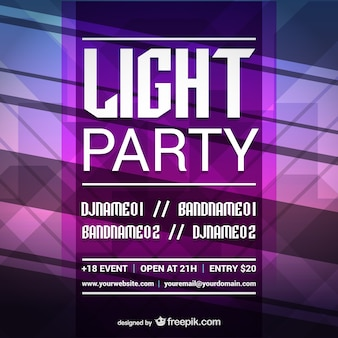 Polygonal light party poster