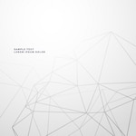 Polygonal lines on a white background