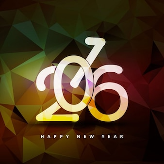 Polygonal new year 2016 background