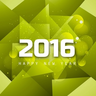 Polygonal new year 2016 card
