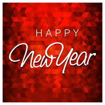 Polygonal New Year Card