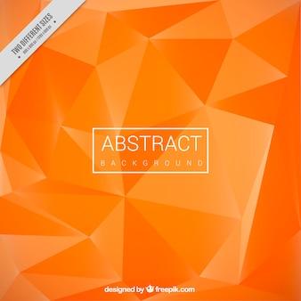 Polygonal orange background