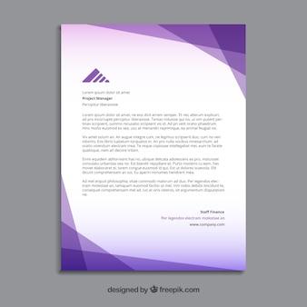 Polygonal purple brochure
