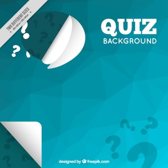 Polygonal quiz background