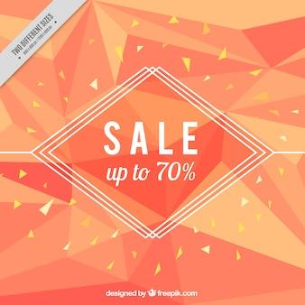 Polygonal sales background