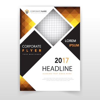 Polygonal shape flyer cover template