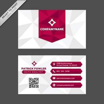 Polygonal shapes business card design