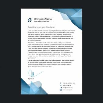 Polygonal shapes letterhead design