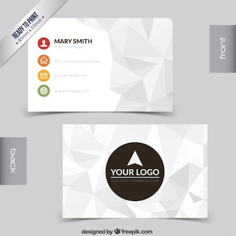 Polygonal visit card