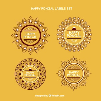 Pongal label set