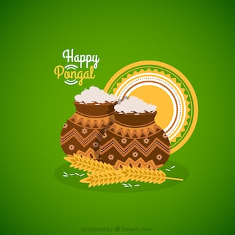 Pongal rice pots background