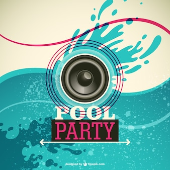 Pool party vector invitation