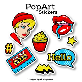 Pop art sticker with classic style