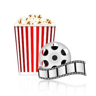 Popcorn and film tape