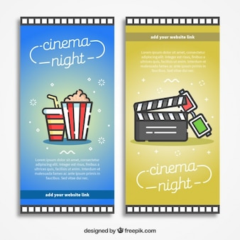 Popcorn banners and clapboards