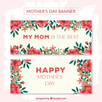 Poppies mother's day banners