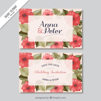 Poppy wedding invitation