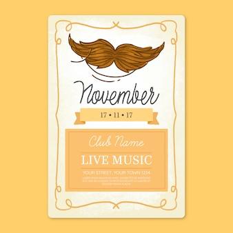 Poster design for movember