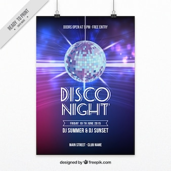 Poster for a night disco