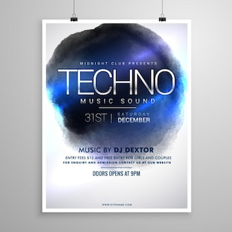 Poster for a techno party