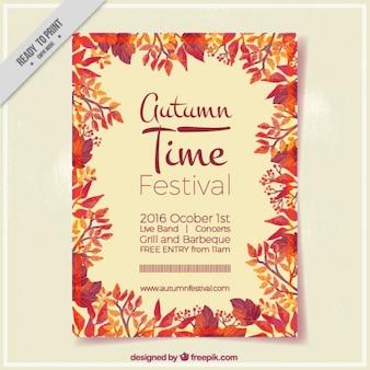 秋の祭りのためのポスター
