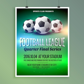 Poster for the football league